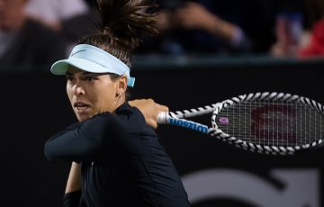 Ajla Tomljanovic of Australia in action during her third-round match at the 2019 Volvo Car Open WTA Premier tennis tournament (photo: WTA)