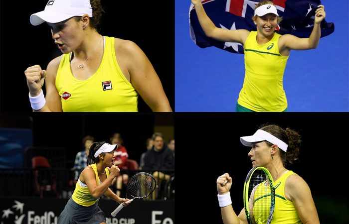 Ash Barty, Daria Gavrilova, Priscilla Hon and Sam Stosur selected for Australian Fed Cup semifinal against Belarus