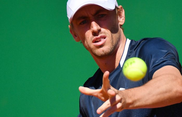 Australia's John Millman eyes the ball before playing a forehand return Spain's Roberto Bautista Agut during their tennis match on the day 3 of the Monte-Carlo ATP Masters Series tournament on April 15, 2019 in Monaco. (Photo by YANN COATSALIOU / AFP)        (Photo credit should read YANN COATSALIOU/AFP/Getty Images)