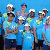 Ash Barty and ANZ Tennis Hot Shots kids