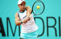 Ash Barty in action during her second-round win over Danielle Collins at the Madrid Open (Getty Images)