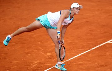 Ash Barty in action during her third-round win over Yulia Putintseva at the Madrid Open (Getty Images)
