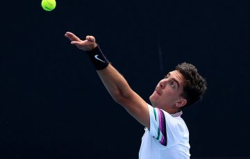 ON SERVE: Thanasi Kokkinakis is one of five Australian men in Roland Garros qualifying; Getty Images