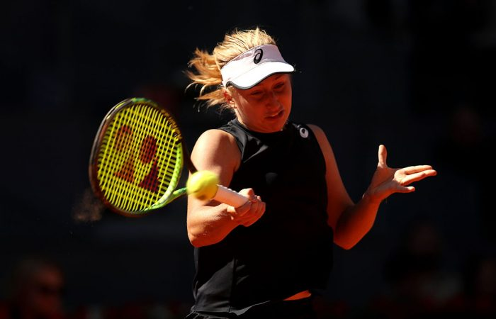 FOCUSED: Daria Gavrilova is into the final eight in Strasbourg; Getty Images