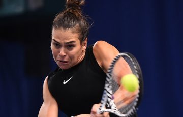 Ajla Tomljanovic in action at the WTA event in Nottingham (Getty Images for LTA)