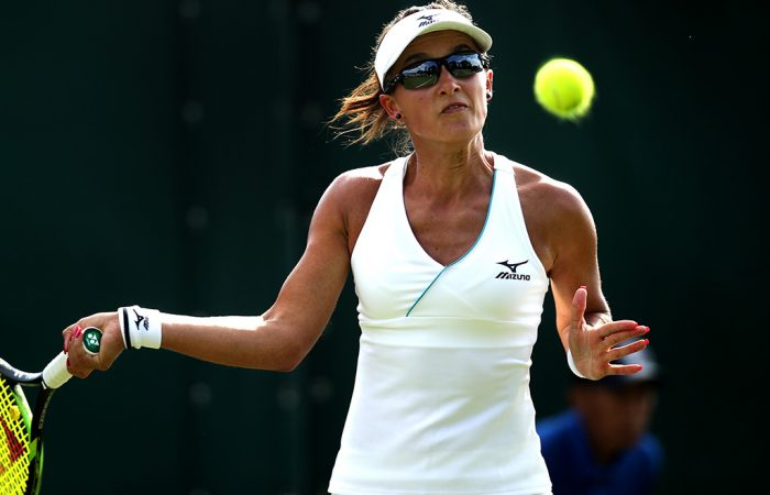 Arina Rodionova in action during her second-round win over Misaki Doi at Wimbledon qualifying (Getty Images)