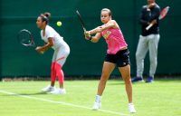 Ash Barty trains in Birmingham ahead of the WTA Nature Valley Classic (Getty Images)