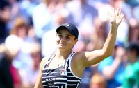 Ash Barty celebrates her semifinal victory over Barbora Strycova at the Nature Valley Classic in Birmingham (Getty Images)
