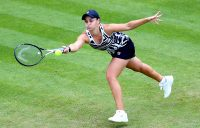 Ash Barty in action during her first-round win over Donna Vekic in Birmingham (Getty Images)