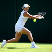 Ash Barty practises on Court 14 at Wimbledon (Getty Images)