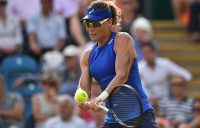 FOCUSED: Sam Stosur returns in her second round match against Angelique Kerber in Eastbourne; Getty Images