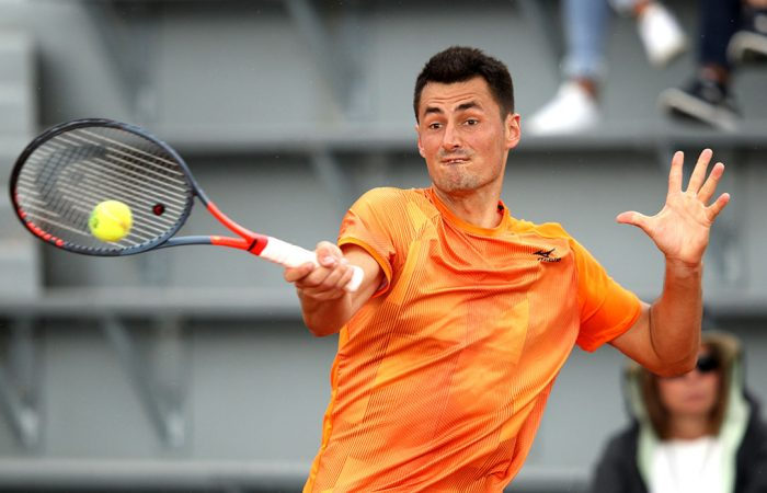 FINDING FORM: Bernard Tomic is into his first ATP quarterfinal of the season; Getty Images