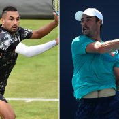 Nick Kyrgios (L) and Jordan Thompson (Getty Images)