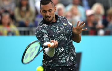 Nick Kyrgios in action at Queen's Club (Getty Images)