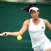 Priscilla Hon at Wimbledon qualifying (Getty Images)
