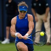 Sam Stosur in action in the first round in Eastbourne (Photo: Jimmie48 Tennis Photography)