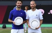 Jordan Thompson (L) finished runner-up to Adrian Mannarino in the ATP 's-Hertogenbosch final (© Libema Open)