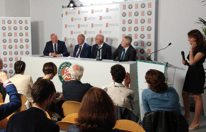An event for climate action in Paris, attended by the United Nations Framework Convention on Climate Change (UNFCCC) Executive Secretary Patricia Espinosa, Tennis Australia CEO and Australian Open Tournament Director Craig Tiley