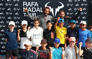 GOLD COAST, AUSTRALIA - JULY 02: Rafa Nadal Tour on July 02, 2019 in Gold Coast, Australia. (Photo by Chris Hyde/Getty Images)