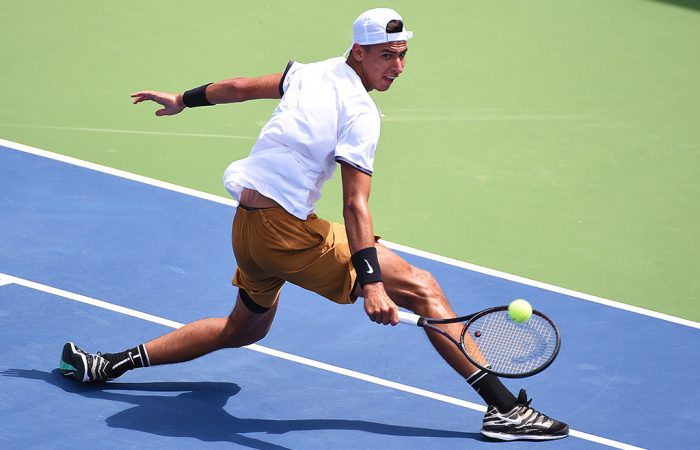 Alexei Popyrin in action during his second-round win in Atlanta (Getty Images)