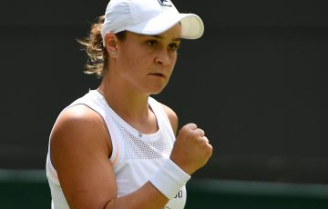 Ash Barty is appearing in the fourth round of Wimbledon singles for the first time (Getty Images)