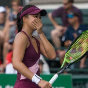 Lizette Cabrera wins the ITF 80K title in Granby, Canada (photo: Sarah-Jäde Champagne/Tennis Canada)