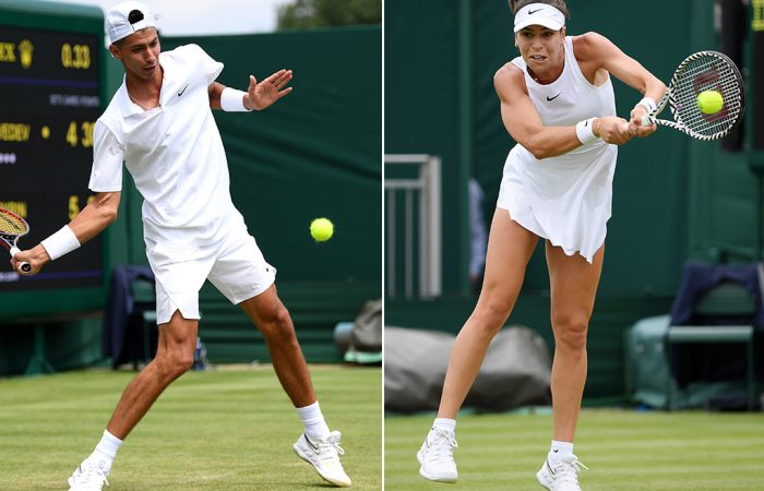 Alexei Popyrin (L) and Ajla Tomljanovic (Getty Images)