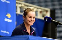 Ash Barty chats to the media ahead of the 2019 US Open (Getty Images)