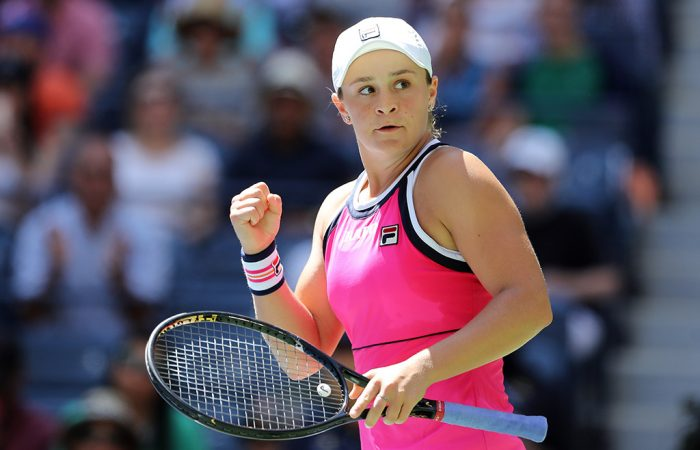 Ash Barty was a first-round winner over Zarina Diyas at the US Open (Getty Images)