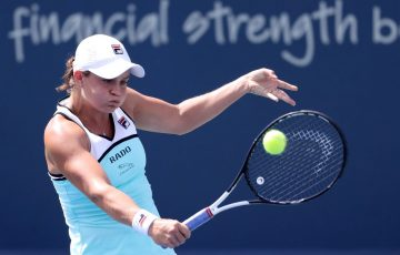 Ash Barty in action during her third-round victory over Anett Kontaveit at the Cincinnati Masters (Getty Images)