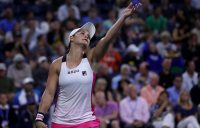 Ash Barty in action during her second-round match against Lauren Davis at the US Open (Getty Images)