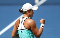 Ash Barty in action during her second-round win over Maria Sharapova in Cincinnati (Getty Images)