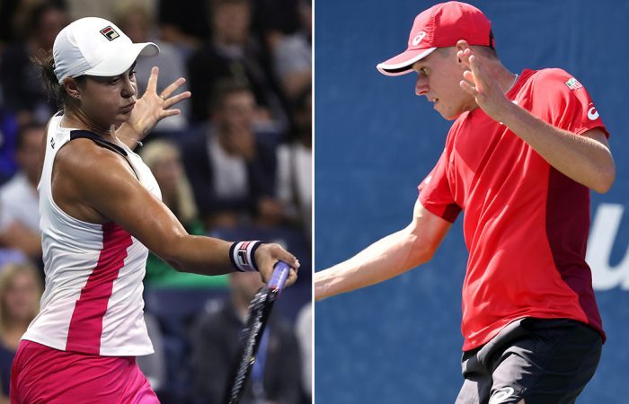 Ash Barty (L) and Alex de Minaur are will play their third-round matches on Friday at the 2019 US Open (Getty Images)