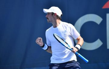 Jordan Thompson in action at the Citi Open in Washington DC (photo: Peter Staples/ATP Tour)