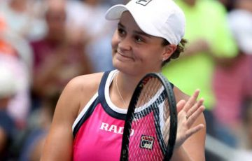 NEW YORK, NEW YORK - AUGUST 30: Ashleigh Barty of Australia celebrates after winning her Women's Singles third round match against Maria Sakkari of Greece on day five of the 2019 US Open at the USTA Billie Jean King National Tennis Center on August 30, 2019 in Queens borough of New York City. (Photo by Mike Stobe/Getty Images)