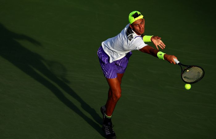 Alexei Popyrin in action during his third-round loss to No.24 seed Matteo Berrettini at the US Open (Getty Images)