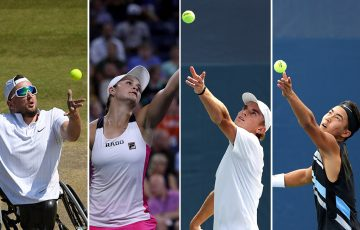 (L-R) Dylan Alcott, Ash Barty, Tristan Schoolkate and Rinky Hijikata (Getty Images)