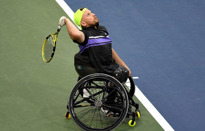 Dylan Alcott in action at the US Open (Getty Images)