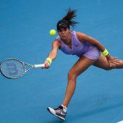 Ajla Tomljanovic in action during her second-round win over Kiki Bertens in Zhengzhou (Photo: Zhengzhou Open)