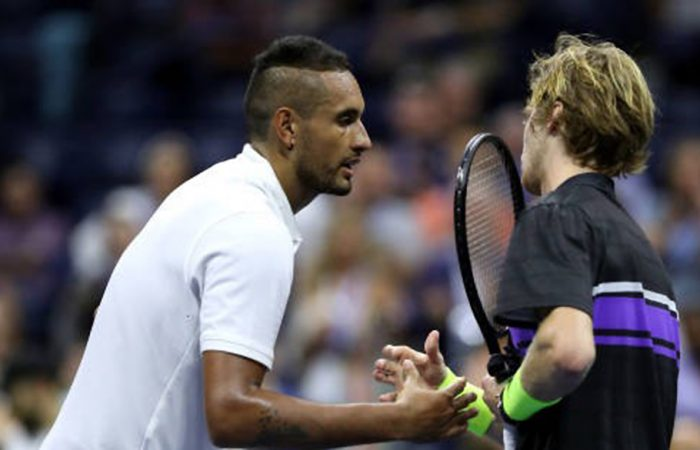 Kyrgios was no match for former quarterfinalist Rublev; Getty Images