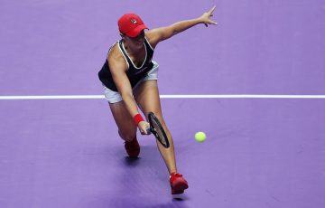 Ash Barty in action at the WTA Finals (Getty Images)