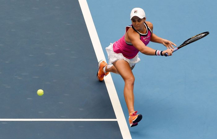 Ash Barty in action at the China Open (Getty Images)