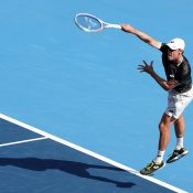 John Millman in action at the ATP tournament in Tokyo (Getty Images)