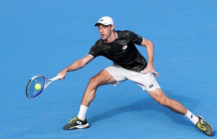 John Millman in action at the ATP Rakuten Open in Tokyo (Getty Images)