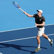 John Millman in action at the ATP 500 tournament in Tokyo, Japan (Getty Images)