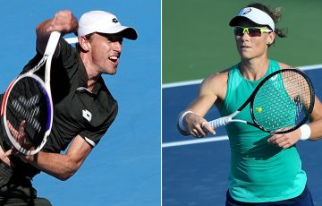 John Millman (L) and Sam Stosur (Getty Images)