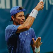 Alexei Popyrin in action at the ATP tournament in Stockholm (©Intrum Stockholm Open)