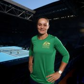 Ash Barty at RAC Arena ahead of Australia's Fed Cup final against France in Perth. (Getty Images)
