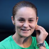 Ash Barty speaks to the media at RAC Arena ahead of this weekend's Fed Cup final in Perth. (Getty Images)