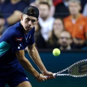 Alex de Minaur fell in the third round of the Paris Masters to Stefanos Tsitsipas. (Getty Images)